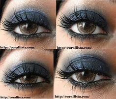 Smokey shimmery blue eye makeup with Sleek Bad Girl + Fyrinnae Glitterboi