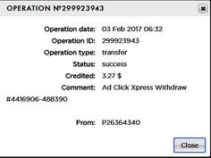 AdClikXpress Payment! I am getting paid daily at ACX and here is proof of my latest withdrawal. I get paid daily and I can withdraw daily. Online income is possible with ACX, who is definitely paying - no scam here. I WORK FROM HOME less than 10 minutes and I manage to cover my LOW SALARY INCOME. If you are a PASSIVE INCOME SEEKER, then AdClickXpress (Ad Click Xpress) is the best ONLINE OPPORTUNITY for you.http://www.adclickxpress.com/?r=Branislav+Mihajlovic&p=mx