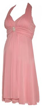 Formal Maternity Dress in Pink