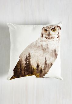 Hoot and Howler Pillow in Owl, #ModCloth