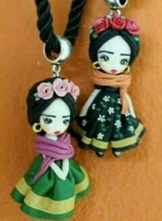 Frida Clay Dolls, Art Dolls, Biscuit, Mexican Crafts, Pasta Flexible, Air Dry Clay, Cold Porcelain, Clay Creations, Doll Accessories