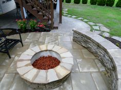 Firepit with lava ro