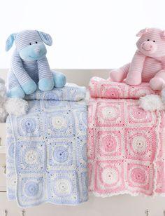 Yarnspirations.com - Bernat Dream Time Motif Blanket - Patterns  | Yarnspirations
