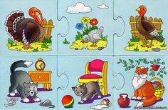 schiwotnie i detönischi-puzzle - Aleiga V. Farm Animals, Animals And Pets, Farm Theme, Preschool Printables, Speech And Language, Book Illustration, Illustrations, Puzzles, Projects To Try