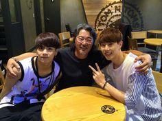 Papa Tuan with Jackson and Mark