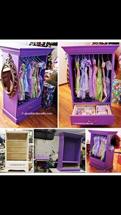 Revamping an old dresser for a little girls dress up closet