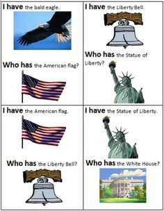 USA Symbols Activties - Early Learners