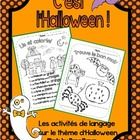 } French LANGUAGE activities for French immersion or Core French Immersion, Language Activities, French Language, Halloween, Voici, Mac, Classroom, French People, French