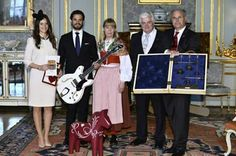 After the Marriage Banns ceremony on 17 May 2015, Sofia Helqvist and Prince Carl Philip had a private reception for family and friends where they were presented with several gifts from the public.