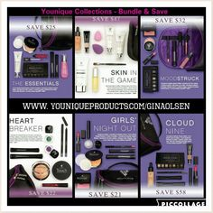 Save money!! Go with a collection!  Plus this month get free shipping and a free cream shadow!!  www.youniqueproducts.com/GinaOlsen