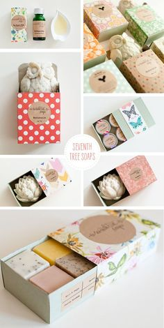 Loving... Seventh Tree Soaps, could make a cute wedding gift Pretty Packaging, Gift Packaging, Packaging Design, Packaging Ideas, Handmade Soap Packaging, Diy Savon, Soap Packing, Homemade Soap Recipes, Home Made Soap