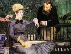 In the Conservatory by Edouard Manet #art