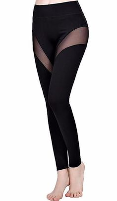 Sexy mesh design forming a V-Shape across the thighs and above the knees Mesh Workout Leggings, Mesh Leggings, Fit Women, Thighs, Slim, Female, Fitness, Pants, Fashion