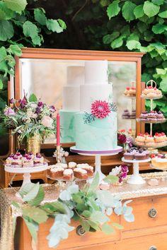 Furniture Chest Drawers Dessert Cake Table Fine Art Bohemian Luxe Wedding Ideas http://jessicadaviesphotography.co.uk/
