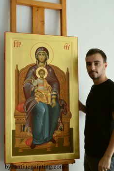 Religious Icons, Sgraffito, Orthodox Icons, Virgin Mary, Our Lady, Madonna, Saints, Byzantine Icons, Statues