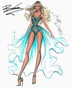 Hayden Williams Fashion Illustrations | Beyoncé Mrs. Carter Show World Tour 2014...