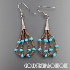 Native American Zuni Navajo 925 Silver Turquoise Nuggets & Heishi Bead – Gold Stream Boutique