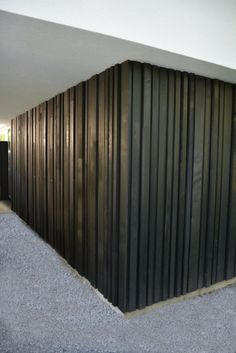 woodface ® in ceder Wooden Cladding, Timber Battens, House Cladding, Exterior Cladding, Fence Design, Wall Design, House Design, Wood Architecture, Architecture Details