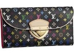 "awesome louis wallet | so colorful | louis vuitton ""eugine grenad"" multicolor walet with gold hardware 