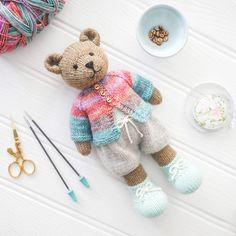 Original doll and animal toy knitting by maryjanestearoom on Etsy