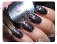 Shimmer Polish Astrid in a glitter gradient over Jacki.  More swatches and review on http://www.alacqueredaffair.com/Shimmer-Polish-Jacki-Astrid-31517338  2 February, 2014