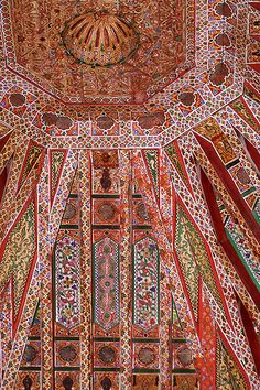 Ceilings at The Bahia Palace | Marrakech, Morocco