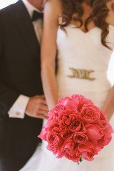 Rich Pink Bridal Bouquet #wedding #bride #bouquet #flower #weddingdecor