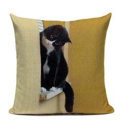 Cute Pets - Cats - Linen Pillow Case