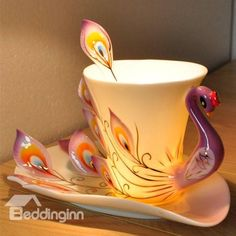 New Arrival Gift for friends and Relatives With This Peacock Coffee Cup - beddinginn.com
