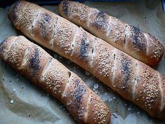 Francouzské špaldové bagetky Hot Dog Buns, Hot Dogs, Bread, Food, Brot, Essen, Baking, Meals, Breads