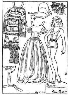 BUNNY from Toots and Casper Comic Cut Outs, 1934