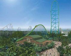 Kingda Ka: The Tallest Roller Coaster in the WORLD! 456 ft drop. Located at Six Flags in Jackson, New Jersey.