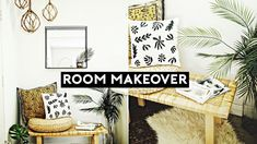 NASTAZSA Welcome to my new mini room makeover series! This room makeover is both trendy and affordable. This diy room transformation was cheap and simple. Thrifty Decor, Diy Home Decor On A Budget, Affordable Home Decor, Cheap Room Decor, Diy Room Decor, Home Renovation, Home Remodeling, Cute House, Diys