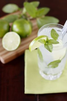 Classic Mojito.  Made these last night with fresh apple mint from the garden...so easy and DANGEROUS!!!