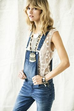 // a bolo tie would also look nice with this outfit. Designs By Maral Denim Fashion, Look Fashion, Ss16, Coachella, Looks Style, My Style, Girl Style, Spring Summer Fashion, Winter Fashion