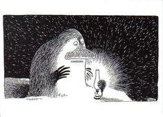 The Groke.Moomins,To