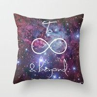 To Infinity and Beyond Galaxy Nebula Throw Pillow by RexLambo   Society6
