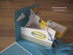 Geschenkbox Überraschungsbox Explosionsbox Gutschein Schifffahrt Brunch Kreuzfahrt Flussfahrt