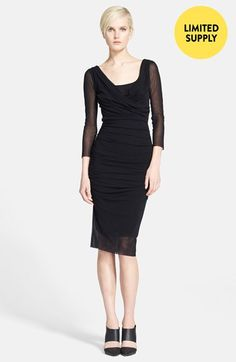 GORGEOUS! Jean Paul Gaultier Drape Neck Tulle Dress available at #Nordstrom