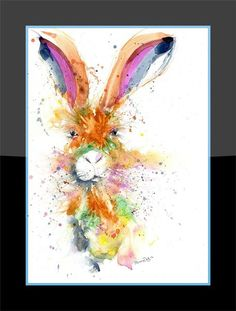 Printed to a high standard using the latest Epson Ink technology that's made to last. Epson Ink, Hare, Fine Art Prints, Painting, Color, Bunny, Art Prints, Painting Art, Colour