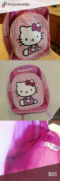 NEW Hello Kitty backpack NEW pink Hello Kitty backpack.....genuine brand by Sanrio Hello Kitty Bags Backpacks
