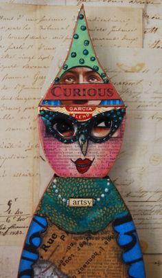 Altered Expression Art Doll  The Curious by desertdreamstudios, $83.00