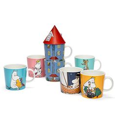 Anniversary mug Moomin 70 years from Arabia by Tove Jansson, Tove Slotte Scandinavian Design Centre, Scandinavian Living, Nordic Design, Moomin House, Moomin Mugs, Tove Jansson, Build Your Own House, White Books, Red Roof