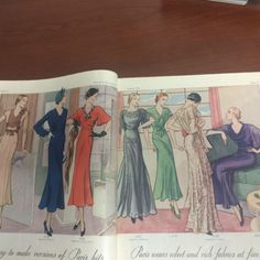 Pictorial Review Fashion Book, Autumn 1932 featuring Pictorial 6138 (from Chanel) and 6158 (from Passy) on the left page, 6167 (from Ardanse), 6179, 6182 (from Agnès) and 609?