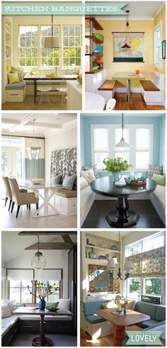 Kitchen banquette design inspiration, Wouldn't it be Lovely Home Design Decor, Interior Design Inspiration, House Design, Home Decor, Kitchen Banquette, Banquette Bench, Bungalow Renovation, Kitchen Design, Kitchen Ideas