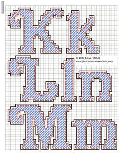 Alphabet Letters Cursive K-M