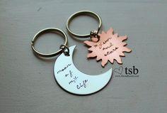My Sun & Stars Moon of My Life Couples Keychain by TheSadBasset, $20.00