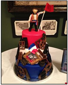 IS THAT ENJOLRAS ON TOP OF A CAKE BARRICADE OMIGOD THIS IS THE MOST BEAUTIFUL THING I HAVE EVER SEEN IN MY LIFE IM CRYING HELP