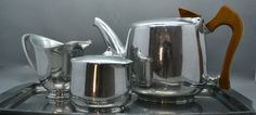STUNNING 1950s Vintage Retro Picquot Ware Tea Set with Tray