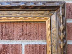 Vintage Mid-Century MODERNIST  Hand-Carved Wood Picture Frame 16 x 20 c1940s Art #MidCenturyModern #unknown